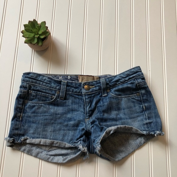 Paige Jimmy Jimmy Cuffed Denim Short 29 Excellent Quality Women's Clothing
